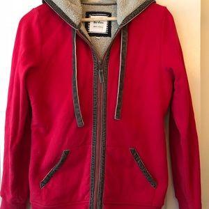 Boden red fleece hoodie